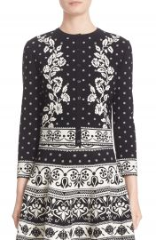 Alexander McQueen Floral Jacquard Knit Cardigan at Nordstrom