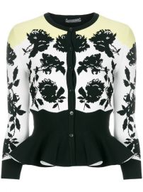 Alexander McQueen Floral Print Peplum Cardigan  1 895 - Buy SS18 Online - Fast Global Delivery  Price at Farfetch