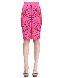 Alexander McQueen Flower Jacquard Pencil Skirt at Neiman Marcus