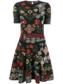Alexander McQueen Graphic Floral Intarsia Knitted Mini Dress  2 735 - Buy Online AW17 - Quick Shipping  Price at Farfetch