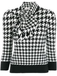 Alexander McQueen Houndstooth Print Blouse - Farfetch at Farfetch