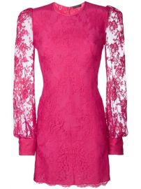 Alexander McQueen Lace Mini Dress at Farfetch