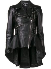Alexander McQueen Peplum Waist Biker Jacket - Farfetch at Farfetch