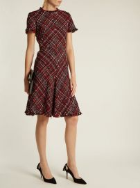 Alexander McQueen Short-sleeved tweed dress at Matches