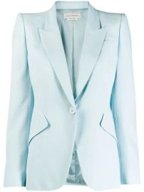 Alexander McQueen Single Button Blazer - Farfetch at Farfetch