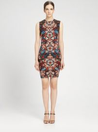 Alexander McQueen Stained Glass Print Sleeveless Dress at Saks Fifth Avenue