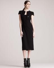 Alexander McQueen Trompe lOeil Bolero Dress in black at Neiman Marcus