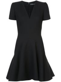 Alexander McQueen V-neck Flared Mini Dress  1 995 - Buy Online - Mobile Friendly  Fast Delivery  Price at Farfetch