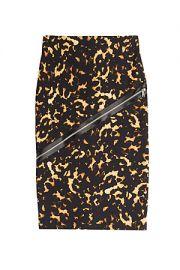 Alexander McQueen Zip Detail Skirt at Stylebop