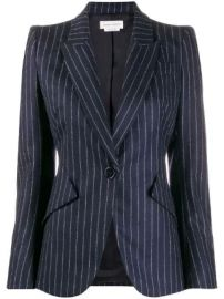 Alexander McQueen fitted pinstripe blazer fitted pinstripe blazer at Farfetch
