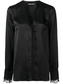 Alexander McQueen lace-trim Blouse - Farfetch at Farfetch