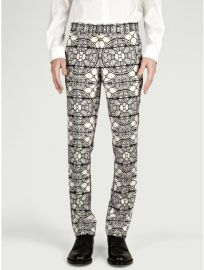 Alexander McQueen stained glass pants at Oki Ni