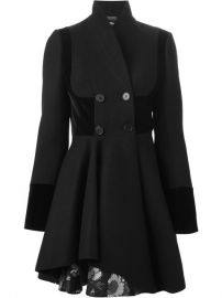 Alexander Mcqueen Double Breasted Folded Drape Coat - Russo Capri at Farfetch