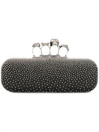 Alexander Mcqueen Studded Knuckle Box Clutch  2 195 - Buy AW17 Online - Price at Farfetch
