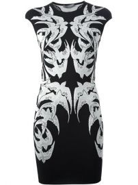 Alexander Mcqueen Swallow Embroidered Dress - Elite at Farfetch