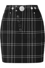 Alexander Wang - Checked woven mini skirt at Net A Porter
