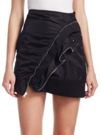 Alexander Wang - Deconstructed Bomber Miniskirt at Saks Fifth Avenue
