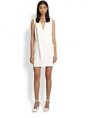 Alexander Wang - Draped Crossover-Front Dress at Saks Fifth Avenue