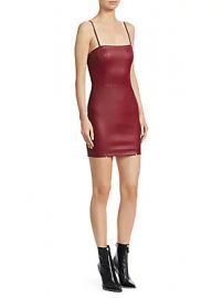 Alexander Wang - Leather Cami Mini Dress at Saks Off 5th
