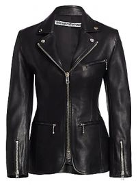 Alexander Wang - Leather Moto Zip Jacket at Saks Fifth Avenue