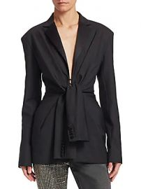Alexander Wang - Tie Front Tuxedo Jacket at Saks Fifth Avenue