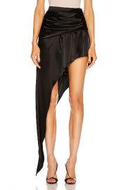 Alexander Wang Asymmetric Floor Length Skirt in Black   FWRD at Forward