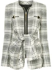 Alexander Wang Checked tie-front Jacket - Farfetch at Farfetch