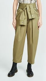 Alexander Wang Cotton Tie Front Waist Trousers at Shopbop