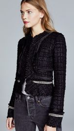 Alexander Wang Deconstructed Tweed Jacket with Chain Trim at Shopbop