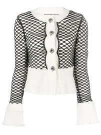 Alexander Wang Layered Mesh Cropped Jacket - Farfetch at Farfetch