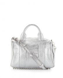 Alexander Wang Rocco Stud-Bottom Satchel Bag  Silver at Neiman Marcus
