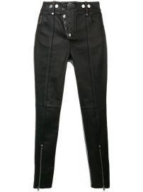 Alexander Wang Skinny Leather Denim Trousers - Farfetch at Farfetch