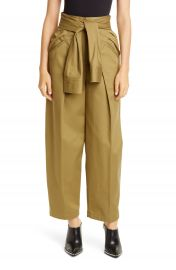 Alexander Wang Tie Waist Cotton Trousers   Nordstrom at Nordstrom