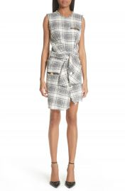 Alexander Wang Tie Waist Tweed Dress at Nordstrom