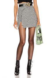 Alexander Wang Tweed Zipper Mini Skirt in Black   White   FWRD at Forward