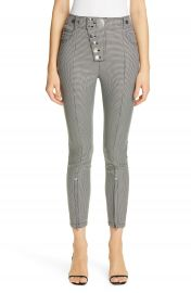 Alexander Wang Zip Hem Houndstooth Legging Pants   Nordstrom at Nordstrom