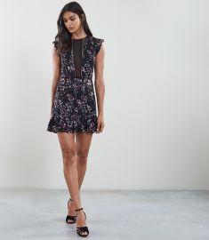 Alexandra FLORAL BURNOUT PRINTED MINI DRESS at Reiss