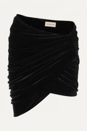 Alexandre Vauthier - Draped stretch-velvet mini skirt at Net A Porter