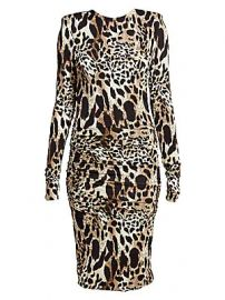 Alexandre Vauthier - Ruched Jersey Lynx Print Bodycon Dress at Saks Fifth Avenue