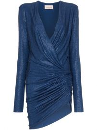 Alexandre Vauthier Plunge-neck Crystal Embellished Mini Dress - Farfetch at Farfetch