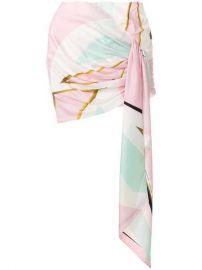 Alexandre Vauthier Printed Ruched Asymmetric Mini Skirt - Farfetch at Farfetch