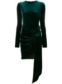 Alexandre Vauthier Velvet Draped Mini Dress - Farfetch at Farfetch