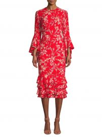Alexia Floral Midi Dress by Amur at Saks Off Fifth