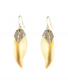 Alexis Bittar Crystal Encrusted Capped Feather Earrings at Nordstrom