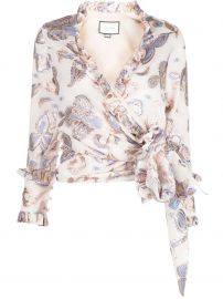 Alexis Marceau wrap-style top Marceau wrap-style top at Farfetch