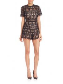 Alexis - Alexandria Lace Short Jumpsuit at Saks Off 5th