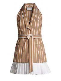 Alexis - Carmona Striped Sleeveless Blazer Dress at Saks Fifth Avenue