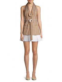 Alexis - Carmona Striped Sleeveless Blazer Dress at Saks Off 5th