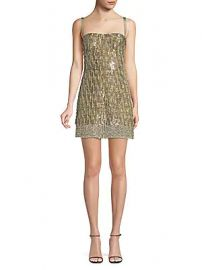 Alexis - Izabell Sequined Mini Dress at Saks Off 5th