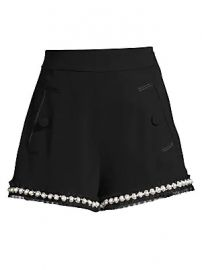 Alexis - Kendrick Imitation Pearl-Trim A-Line Shorts at Saks Fifth Avenue
